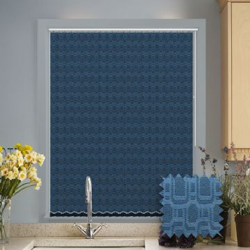 Made to Measure Cavali Blue Vertical Blind